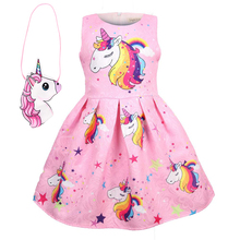 Baby Summer Princess unicorn party Dresses Children Clothing For Girl Halloween Birthday Party Vestido Christmas Dress 8617
