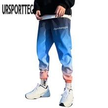 URSPORTTECH calle 2020 Joggers de Hip hop pantalones hombres pantalones bombachos holgados pantalones de la longitud del tobillo Sport Casual pantalones de chándal de talla grande tamaño