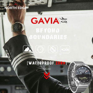 Image 4 - オリジナル北エッジメンズ gavia 2 smart watch ビジネス時計の高級フル鋼高度計コンパスダイビングスポーツ防水時計