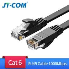 Gigabit cat6 ethernet cabo de rede rj45 cabo redondo cabo plano trançado par cabo de remendo de rede para computador portátil roteador