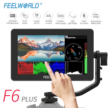 Feelworld F6 Plus Golfvorm Vectorscope Type-C 3D-LUT Touch-Screen Camera Dslr-Veld-Monitor Video-focus 4K 1920X1080 Hdmi