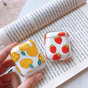 Image 2 - Cute Cartoon Wireless Bluetooth Transparent Earphone Case For Apple AirPods Slim Thin Hard box Headphones Case Protective Cover