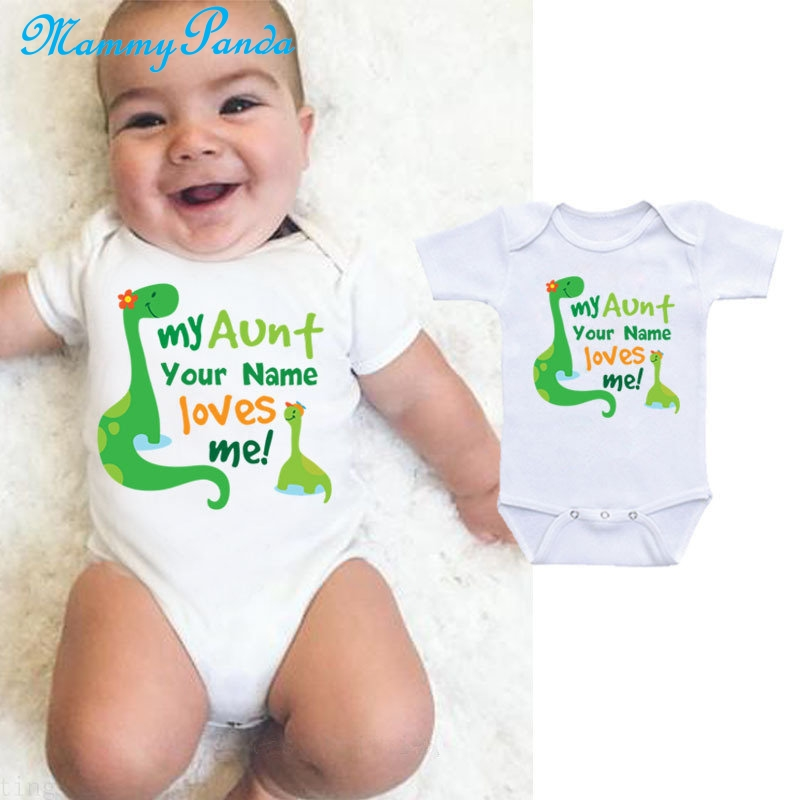 Bodysuit Baby Romper Clever Girl Dinosaur Baby Unisex Baby Grow Bodysuit