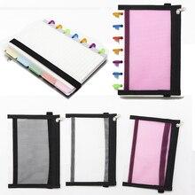 B6 Loose-leaf Notepad Storage Bag PP Material Cover Zipper Folders Binders File Folder Document
