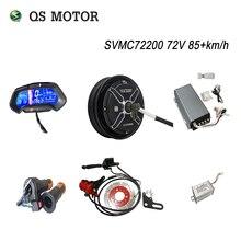 Kit moteur QS, Kit de Conversion électrique pour moto, 10 pouces, 205 3000W