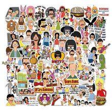 10/50/100Pcs Cartoon Drama Bob Burger Shop Graffiti Sticker Decorative Bag Waterproof Sticker Notebook Skateboard Sticker