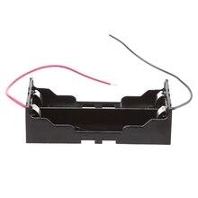 3,7 В 2x 18650 параллельный батареи держатель коробка хранение чехол контейнер с провод