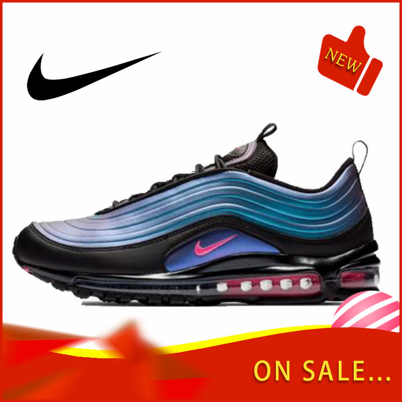 Original Authentic Nike Air Max 97 LX Men's Running Shoes Fashion Outdoor Sports Shoes Breathable Comfort 2019 New AV1165-001