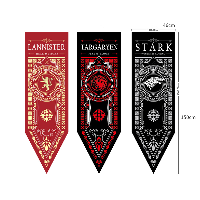 Movie Game Of Thrones Cosplay Prop Accessory Stark Family Banner Decorative Flag A Song Of Ice And Fire Game Of Throne
