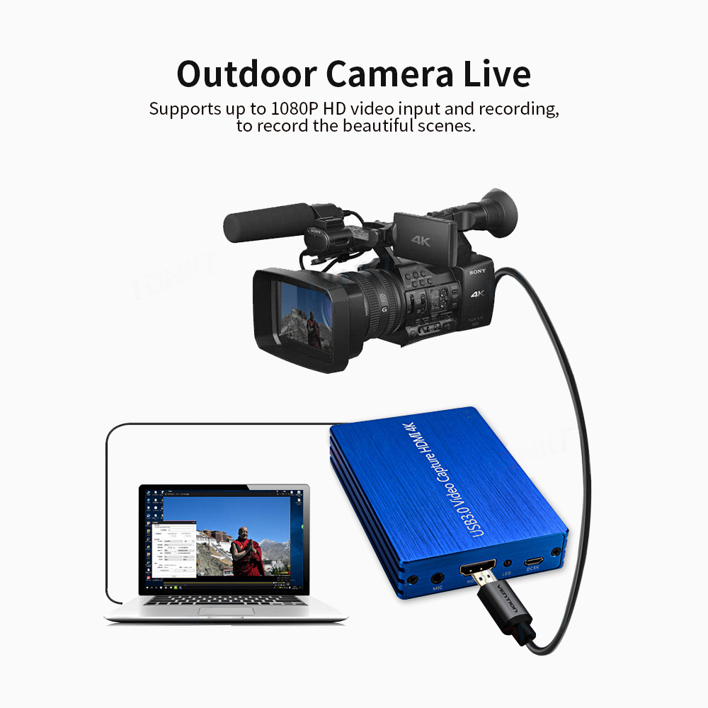 Image 4 - 4K HDMI Video Capture USB 3.0 Video Capture HDMI to USB 1080P  60fps HD Video Recorder for Game Streaming Live Stream BroadcastVideo