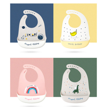 Fashionable Silicone Breastplate Baby Bib Waterproof Solid Infant Silicone Bibs Newborn Feeding Bib Cloth Drooling Baby Scarf