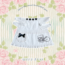 Хлопковый милый фартук в стиле Лолиты винтажный Кружевной Фартук
