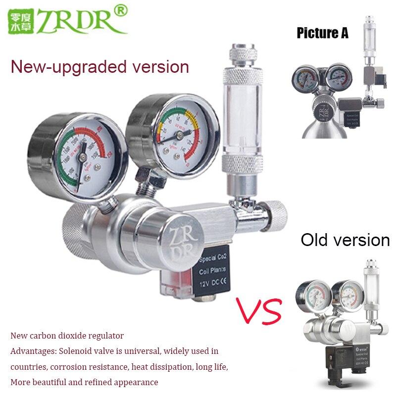 ZRDR Aquarium CO2 Regulator  Magnetic Solenoid Check Valve Aquarium Bubble Counter Fish Tank Tool Pressure reducing valve