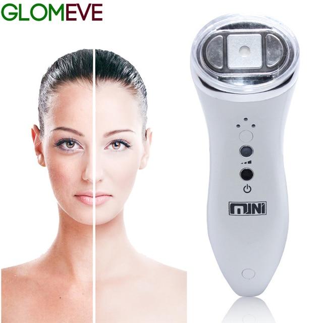 Ultrasonik Mini Hifu yüksek yoğunluklu odaklı ultrason yüz kaldırma makinesi yüz germe RF LED kırışıklık karşıtı cilt bakımı Spa güzellik