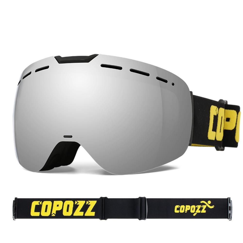 COPOZZ Frameless Ski Goggles With Magnetic Lens Skateboard Skiing Anti-fog UV400 Snowboard Goggles Men Women Ski Glasses Eyewear