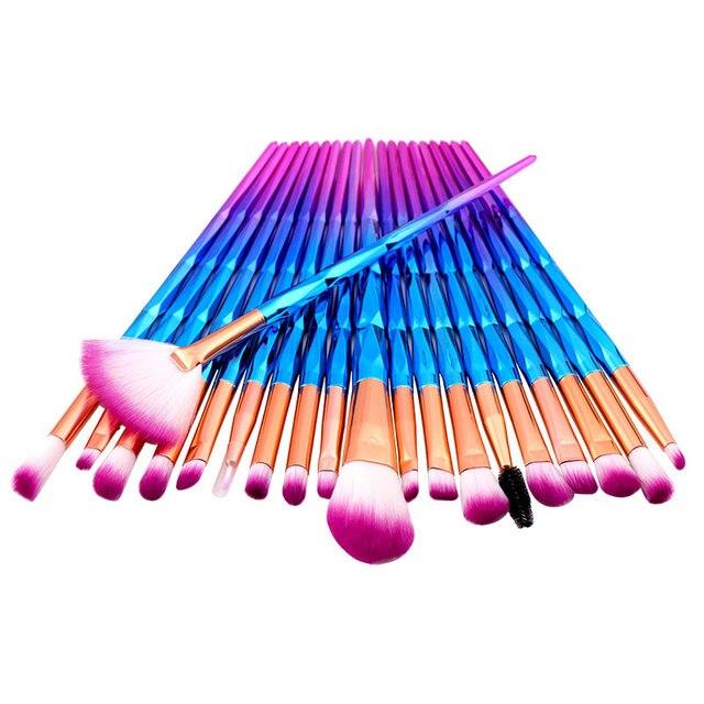 20PCs Del Diamante di Trucco Pennelli Set Polvere Prodotti Di Base Blush, Fard Blending Ombretto Lip Cosmetic Beauty Make Up Brush Pincel Maquiagem
