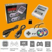64 poco portátil consola de juegos Retro de 4K HD Mini TV controlador 1600 juegos para SNES/GBA/MD juego jugador Gamepad para Super Nintendo