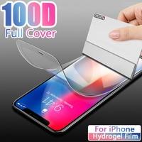 Hidrogel de película para iPhone 12 Pro Max 11Pro 12Pro Protector de pantalla Apple 12 11 10 8 7 6 6 S Plus X XS X XR SE2020 Mini 8Plus no de vidrio