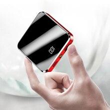 נייד מיני כוח בנק 20000mah חיצוני סוללה Powerbank עבור טלפון נייד סוללה מטען LED מראה מסך Pover בנק