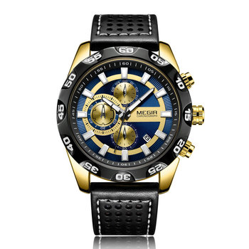 Quartz Watch Running Seconds Chronograph Automatic Date Three Small Cap Men's Watches