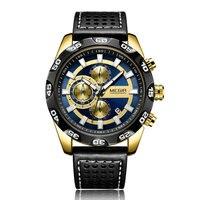 Relógio de quartzo em execução segundos cronógrafo data automática três pequenos relógios masculinos Relógios de quartzo    -