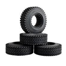 1 Set 1:10 Crawler Car 1.9 Inch 98MM Beadlock Wheel Tire Rubber Wheel Tire Tyre For Tamiya Truck Axial SCX10 S347 rc climbing 1 9 98mm tire