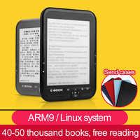 CLATE 4/8/16G E-Livro de tinta E Linux Leitor de Ebook Tela Eink E-book e-Leitor de fone de Ouvido 3.5mm com caso MP3, WMA PDF HTML