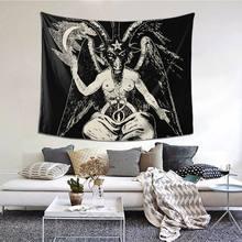 Baphomet Tapisserie Wand Hängen Wand Decor Teufel Lucifer Dämon Teufel Wand Tuch Polyester Hause Dekoration Einzigartige