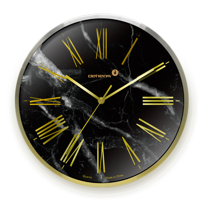 Large Marble Gold Wall Clock Modern Wall Clocks Home Decor Creative Watch Home Bedroom Silent Kitchen Clock Duvar Saati Gift D94