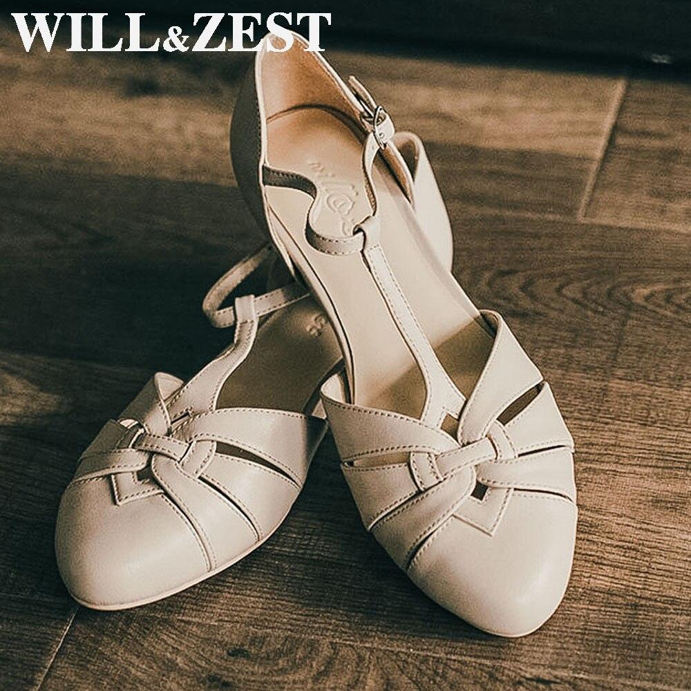 Will & Zest/женские босоножки; Коллекция 2020 года; Сезон лето; Туфли на плоской подошве; Туфли Mary Jane для девочек; Ручная работа; Классические туфли