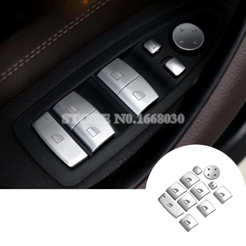 Inner Door Window Switch Button Cover 11pcs For BMW 1 2 3 4 Series F20 F21 F22 F30 F31 F32 F34 image
