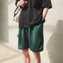 2021 New Summer Cotton Soft Shorts Men Casual Home Stay Sweatpants Men #8217 s Running Shorts Sporting Men Shorts Jogging Short Pants cheap Polyester CN(Origin) Spring And Summer Jogger pants joggers shorts Elastic Waist Solid Harem Pants LOOSE Pockets