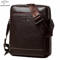 KANGAROO KINGDOM fashion genuine leather men bag small shoulder bags casual male crossbody messenger bags