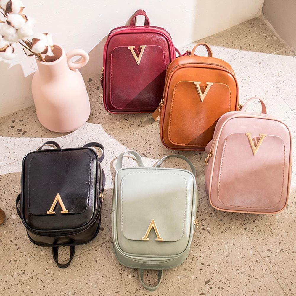 Small Backpack Women Leather Shoulder Bag Multi-Function Mini Backpacks Female School Girls' Bagpack Bag For Teenage Grils
