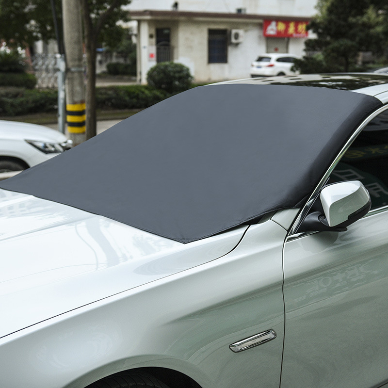cheapest Car Magnetic Sunshade Cover 210 120cm Car Windshield Snow Sun Shade Waterproof Protector Cover Car Front Windscreen Cover