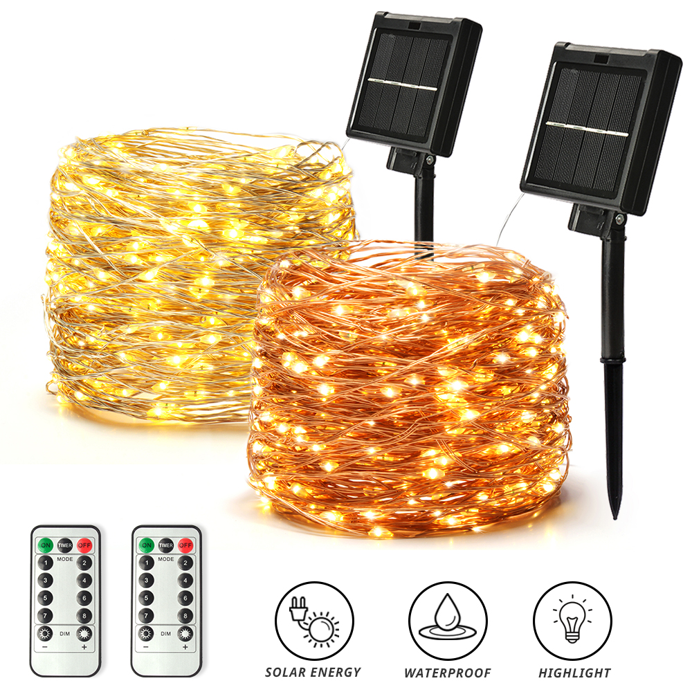 50/100/200/300/400 LED Solar Light Outdoor Lamp String Lights For Holiday Christmas Party Waterproof Fairy Lights Garden Garland 1