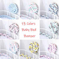 1M/2M/3M Baby Bed Bumper Sides in the Crib Braid Knot Handmade Braid Crib Bumper Newborn Bed Barrier Baby Room Decor