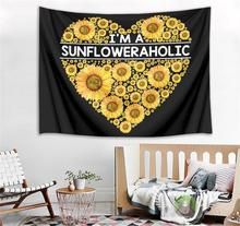 Heart Shaped Sunflower Tapestry Wall Hanging Beach Blanket Flower Tapestry Home Decorative Art Wall Decor Tablecloth Carpet цена 2017