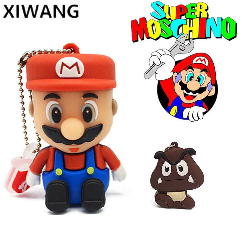 Usb 2.0 Usb Falsh Drive 128gb Usb Memory Disk 4gb 8GB 16GB 64GB Pen Drive Stick Super Mario 32GB Pendrive Cute Cartoon Free Ship