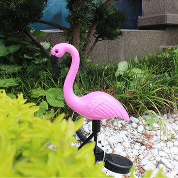 LED garden solar light Flamingo lawn lamp waterproof solar led lights for outdoor courtyard decoration solar lamp solar lighting outdoor lighting doorplate solar lamp waterproof ip65 led solar light outdoor house indicating number solar number light
