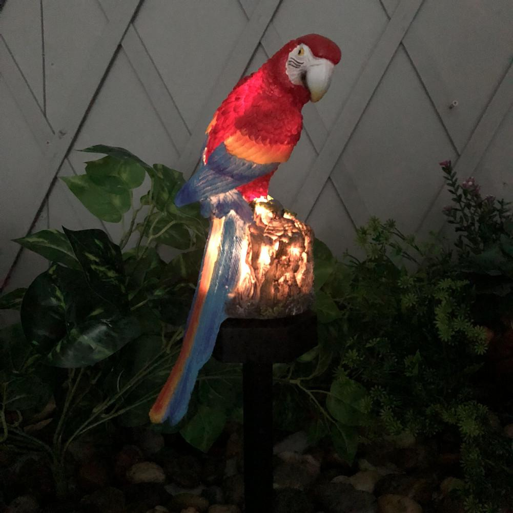 Litake LED Outdoor Waterproof Solar Powered Parrot Shape Lawn Lamp For Garden Courtyard