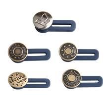 5pc botão ajustável botões de costura livre desmontagem retrátil jeans cintura botão estendido fivelas pant cintura expansor