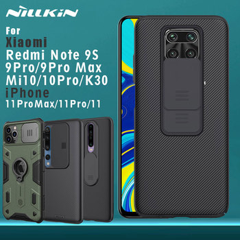 NILLKIN pour Xiaomi Redmi Note 9 S 9 Pro Max 9 S Mi 10 Pro Redmi K30 iPhone 11 Pro Max coque arrière CamShield caméra Protection 1