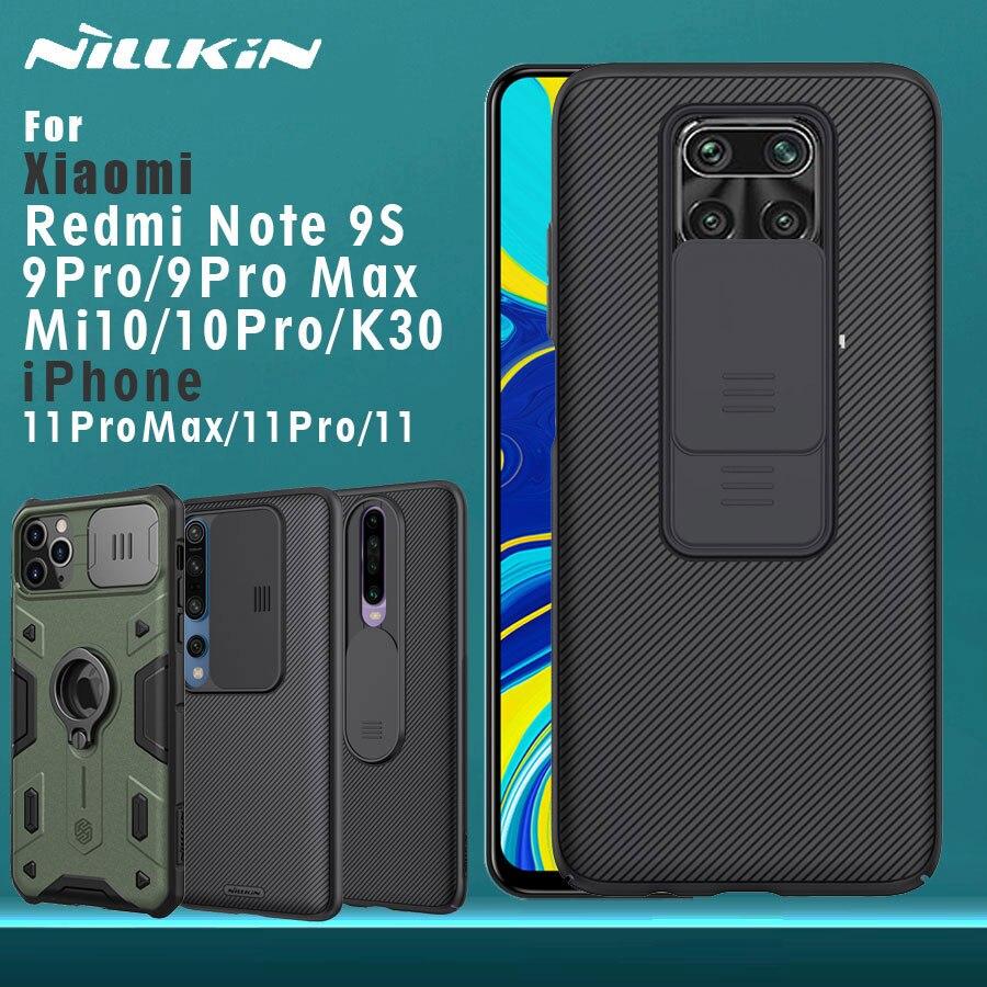 NILLKIN for Xiaomi Redmi Note 9S 9 Pro Max 9 S Mi 10 Pro Redmi K30 iPhone 11 Pro Max Back cover case CamShield Camera Protection(China)