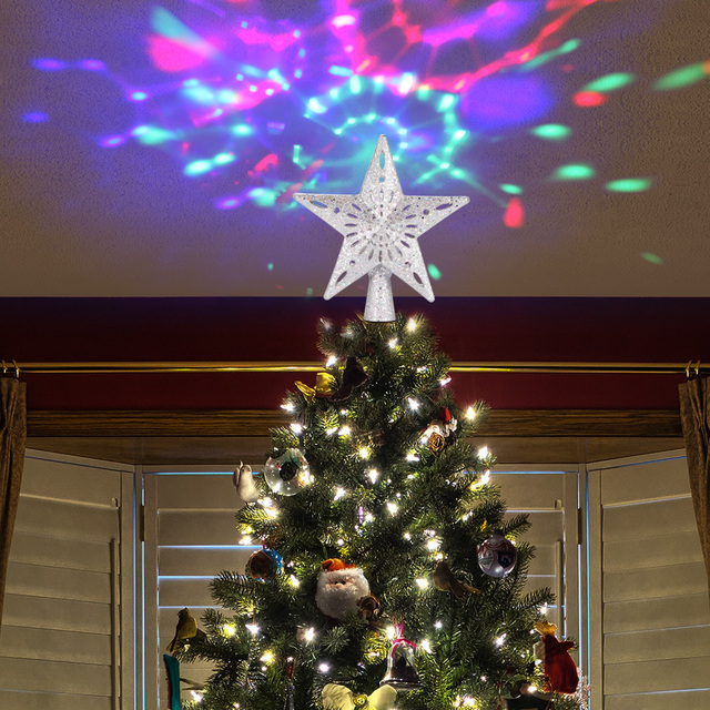 Christmas Tree Top Adjustable Star Led String Fairy Lights Curtain Led Christmas Xmas Wedding Decoration Party Garden Holiday