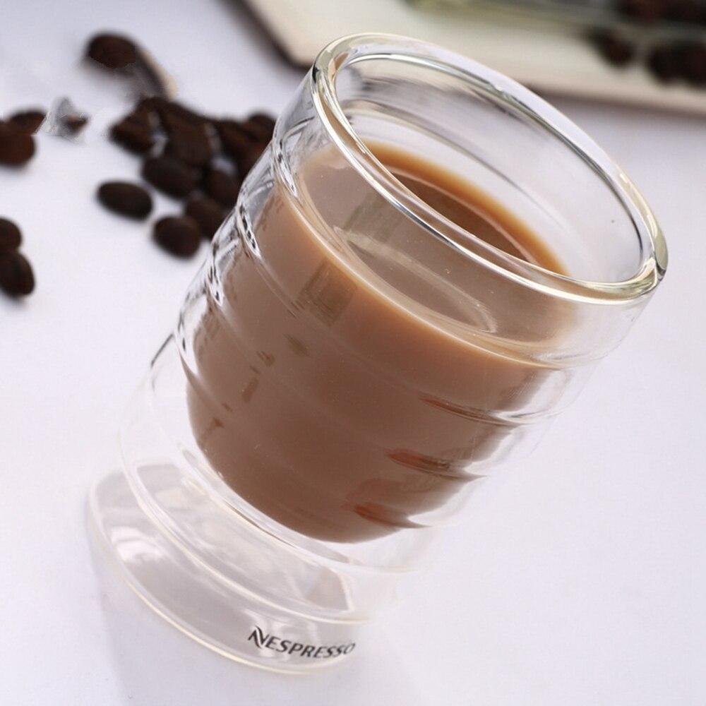 6 шт./лот Caneca ручная выдувная Двухстенная сыворотка протеин Canecas Nespresso кофейная кружка эспрессо Кофейная чашка термостекло 150 мл