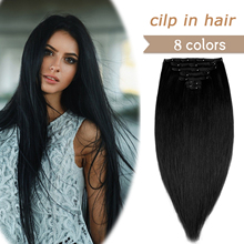 WIT Remy Clip In On Human Hair Extensions 20