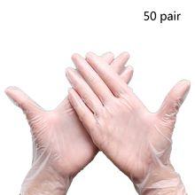 100PCS Food Grade Disposable PVC Gloves Anti-static Plastic DIY Epoxy Resin Molds Jewelry Making Tool
