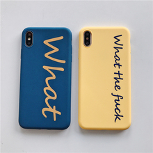 Soft TPU text protective case for iPhone 8 Plus 7 6S 6 iphone Xs Max Xr solid color