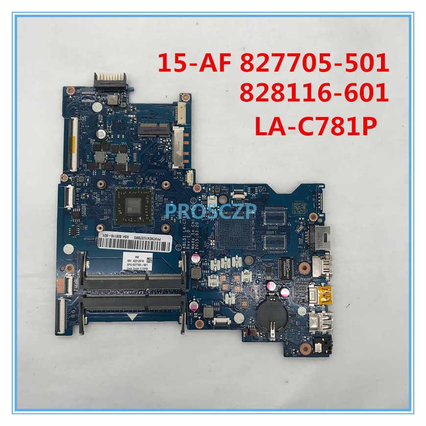 のための 15-AF 15-AF131DX ノートパソコンのマザーボード 827705-501 828116-601 ABL51 LA-C781P A6-5200U DDR3 100% うまく機能して